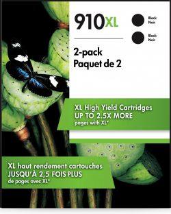 HP 910XL 2-pack High Yield Black