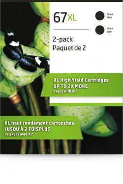 HP 67XL 2-pack High Yield Black