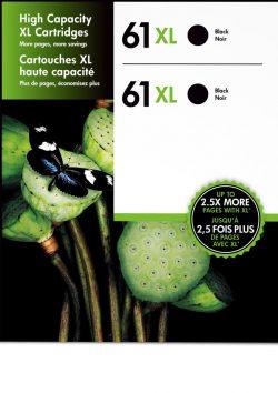HP 61XL 2-pack High Yield Black