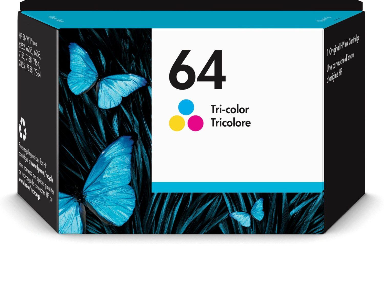 HP 64 Tri-color Original Ink